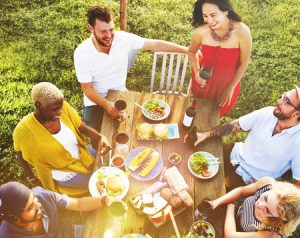 47335819 - friends friendship outdoor dining people concept